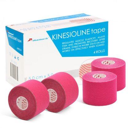 Pharmacels® KINETICLINE Tape коробка и 4 ролика розовый