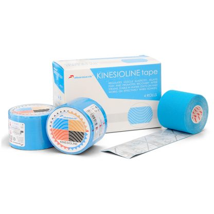 кинезио голубой коробка и 3 рулона 5м Pharmacels® KINETICLINE Tape