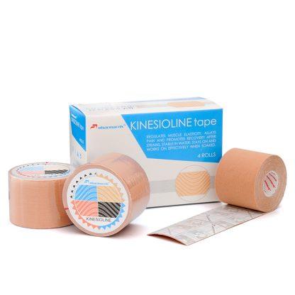 кинезио бежевый коробка и 3 рулона 5м Pharmacels® KINETICLINE Tape
